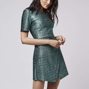 Topshop Tinsel Wrap A-Line Dress